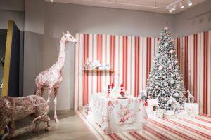 Dior Pop Up Red Stripe Room