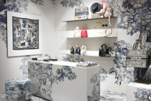 Dior Pop-Up Blue pattern room
